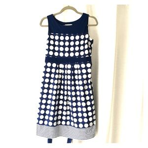 Motherhood Maternity navy/white dress
